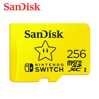 SanDisk 256GB microSDXC Card for Nintendo Switch UHS-I U3 100MBs with Tracking#