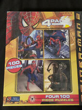 Spider-Man 2: Four 100 Piece Puzzles by Pressman - Ages 5 to 8 - Brand New