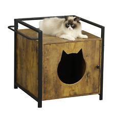 Katzenhaus Katzenklo Kleintierhaus Katzentoilette Holz Katzenschrank Haustier
