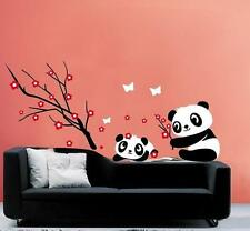 Panda Baby and cherry tree Removable Wall Stickers Decal Kids Home Decor USA