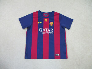 Nike Barcelona Soccer Jersey Youth Large Blue Spain Futbol Boys Kids B2*
