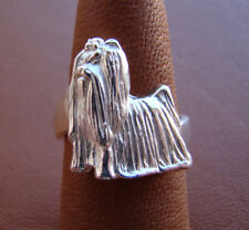 Sterling Silver Yorkshire Terrier Standing Study Ring