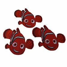 Disney's Finding Nemo Movie Nemo Figure Embroidered Patch Set of 3