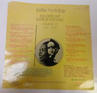 Billie Holiday Unused LP Slick - ESP-Disk Broadcast Performances RARE
