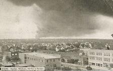 Sapula OK * Oil Fire in Distance  1914 * Creek  Tulsa Co.