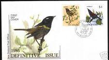 NEW ZEALAND FDC 1986  $3 & $4 BIRD DEFINITIVES