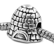 Igloo Ice Snow House Arctic Shelter Bead for Silver European Charm Bracelets