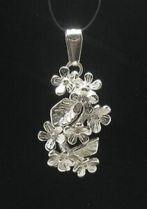 STERLING SILVER PENDANT SOLID 925 FLOWER NEW CHARM