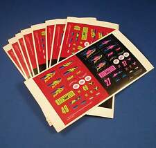 9 1992-93 TYCO Nissan Pickup SlotCar Sticker Sheets NOS