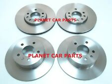 SAAB 9-3 93 1998-2002 FRONT 2 & REAR 2 BRAKE DISCS NEW CHECK SIZE & TYPE CHOICE