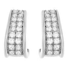 CZ Earrings 925 Sterling Silver Clear Cubic Zirconia 0.72 ctw Brand New ss