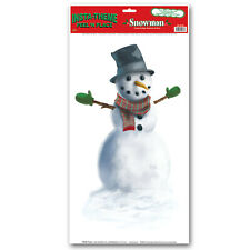 00004000 The Beistle Company Snowman Peel 'N Place ( Pack of 12) Christmas product
