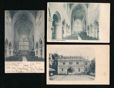 Worcestershire MALVERN Church and Abbey x6 c1902 u/b PPCs
