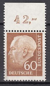 BRD 1956 Mi. Nr. 262 Oberrand Postfrisch rechts u. tinten fingerabdruck? (14300)