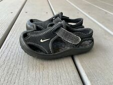 Nike Sunray Protect Black Sandal Little Boys Toddler Size 5C Water Shoes