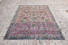 Turkish Rug 80''x133'' Vintage Muted Color Oushak Pile Carpet 206x340cm 6x11 Rug