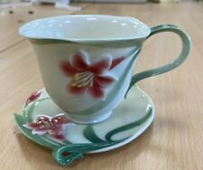 Franz Porcelain Pink Lilly Cup and Saucer  FZ 00032 (Hospiscare)