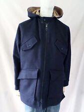 FOX KNAPP vintage 60s navy blue wool tan will reversible parka jacket 42 LARGE