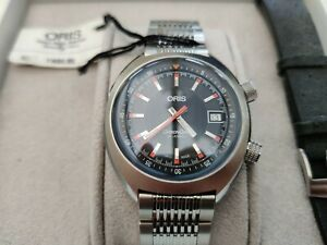 Oris Chronoris Men's Black Watch Steel Bracelet RRP £1570