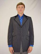 Vintage 60's Men's Mod Charcoal Gray Afer 6 by Rudofker Tuxedo Jacket- Size 39 R
