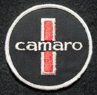 """CAMARO EMBROIDERED SEW ON PATCH CAR AUTO CHEVY CHEVROLET BLACK 3"""" ROUND"""