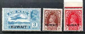Kuwait 1933-9 to 3a mint