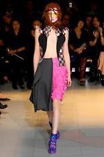 COMME DES GARCONS Womens Black+Red Multicolor Sequin Check Vest Top M NEW NWT