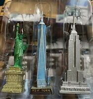 Set of 3 NYC Statue of Liberty,Freedom & Empire Building Statue Figures 5 in