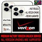 VERIZON USA IPHONE 13 Pro 12 Pro Max 11 PRO XS Max Xr X 8 PREMIUM UNLOCK SERVICE