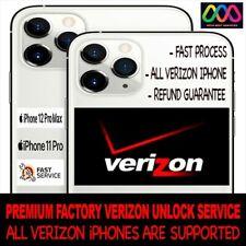 VERIZON USA ALL IPHONE PREMIUM UNLOCK SERVICE iPhone 12 12 Pro Max 11 XS XR X 8