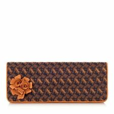 Ruby Shoo London Designer Clutch Corsage Chain Shoulder Bag Mustard Orange Navy