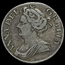 More details for 1711 queen anne early milled silver sixpence