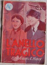 L'ANELLO TRAGICO FILM HANS ALBERS CINEMA SAVOY HOTEL 217 CINEROMANZO 1937 MOVIE