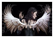 Fantasy Angel Wings - Gothic Women Dark Art Large Poster / Canvas Picture Prints