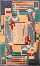 Contemporary Colorful Art Deco Inspired Tibetan Rug N10959