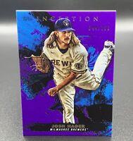 Josh Hader 44/150 2021 Purple Parallel Topps Inception #28 Milwaukee Brewers MLB