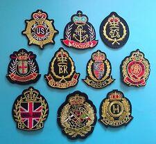 10PCS/SET LOT  Royal Navy Golden Crown hotfix applique patch iron on patches