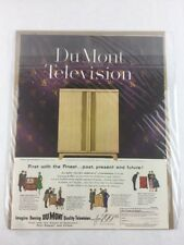 Du Mont Television Vintage Art Print Collectible Advertisement 10.5 x 14