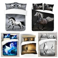 UK Made 3D Horse Design Photo Digital Duvet Quilt Cover With Pillowcases