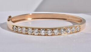 Diamond Bangle Bracelet 14k, 3ct