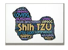 More details for shih tzu art print word art a4 a3 birthday mothers day gift personalised option