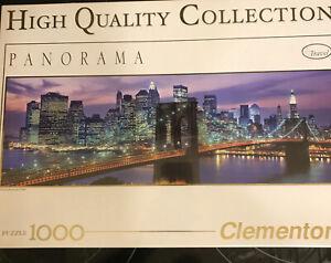 NEW Clementoni Brooklyn Bridge 1000 Pieces Puzzle Panorama NYC Panorama Travel +