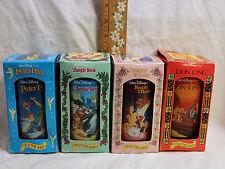 Lot 4 Burger King DISNEY Classic Glasses Peter Pan~Jungle Book~Lion King~Beauty