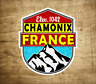 "Chamonix France Decal Sticker Skiing Ski Mountain 3"" x 3.75"""