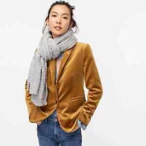 J.CREW NWT $198 Parke Lined Blazer Jacket Top in Soft Velvet Size 00
