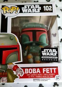 Funko Pop Star Wars 102 Boba Fett Smugglers Bounty Flying Jet Pack Vinyl Figure