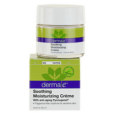 Derma E Soothing Moisturizing Creme with Anti - Aging Pycnogenol NIB 2 oz