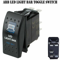 LED Light Bar 12V ARB Carling Rocker Waterproof Toggle Switch Blue Car Boat FZ..