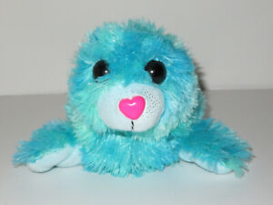"""Toys R Us Blue Seal Plush 13"""" Stuffed Animal Alley Toy Tie Dye Pink Heart Nose"""