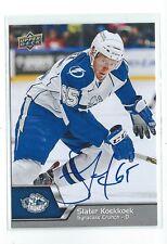 Slater Koekkoek Signed 2014/15 Upper Deck AHL Card #27